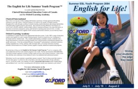English for Life brochure and graphic design