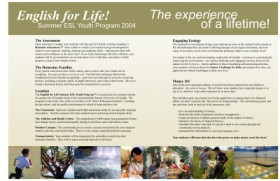 English for Life brochure and graphic design, page 3