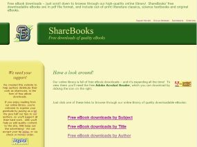 Website design for sharebooks.ca